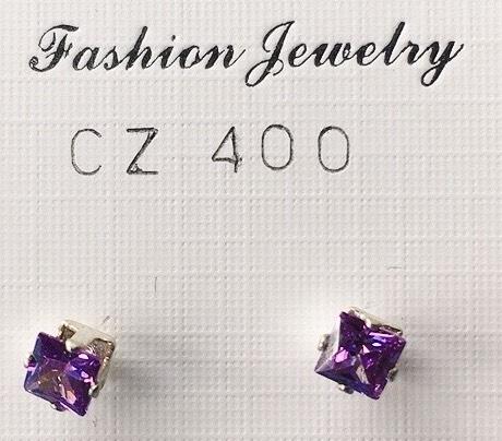 orecchini cristalli viola