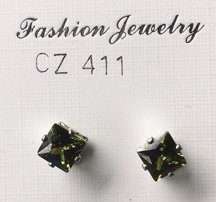 orecchioni cristalli verdi