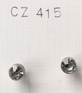 orecchini cristalli grigi