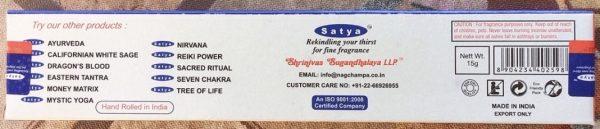 incenso bastoncini Satya
