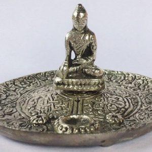 piattino metallo Buddha