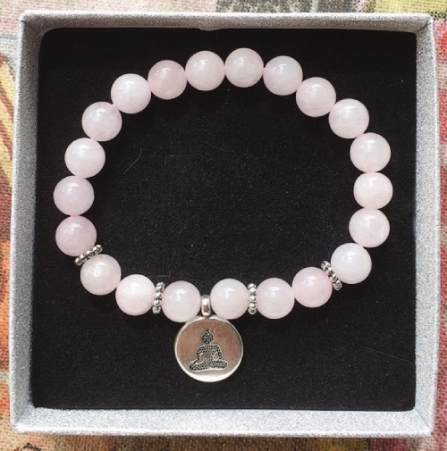 braccialetto quarzo rosa