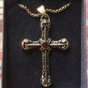 collana croce oro