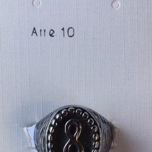 anello infinito acciaio