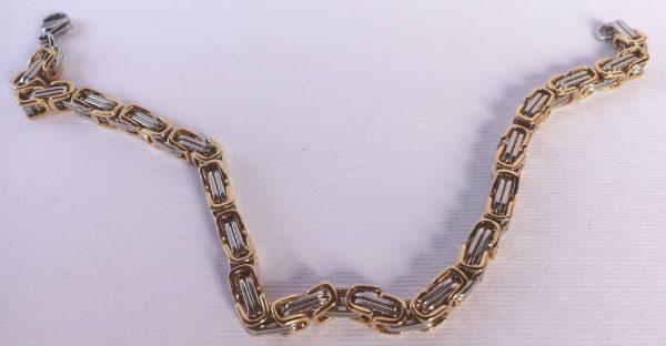 braccialetto acciaio bicolore