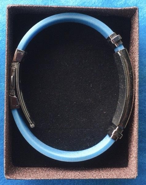 braccialetto gomma e acciaio