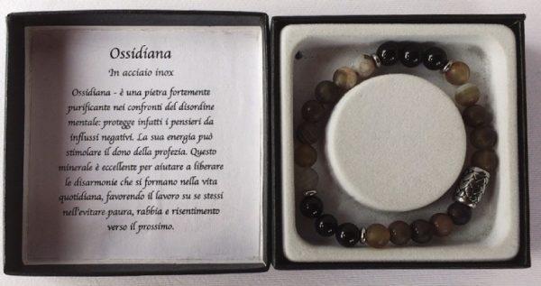 braccialetto ossidiana