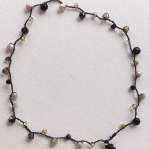 collana perline uncinetto