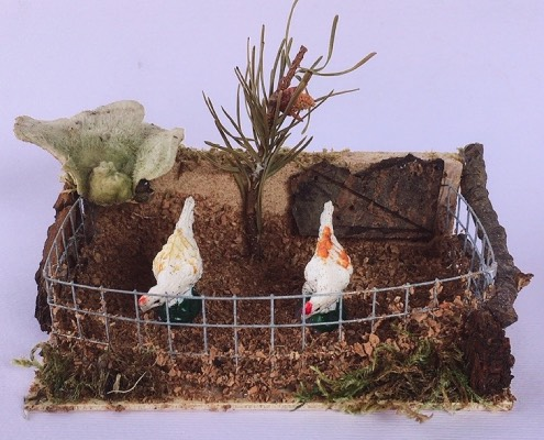 presepe recinto galline