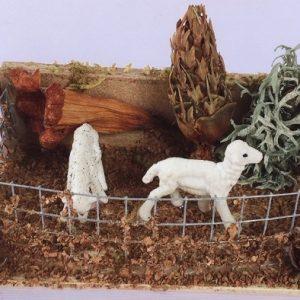 presepe recinto pecore