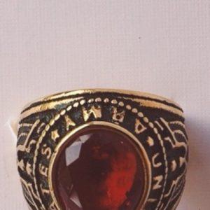 anello acciaio dorato