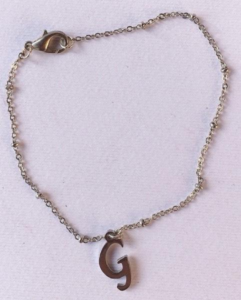 braccialetto lettera g