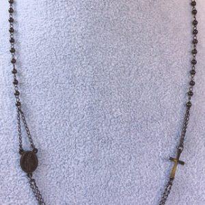 collana rosario nero