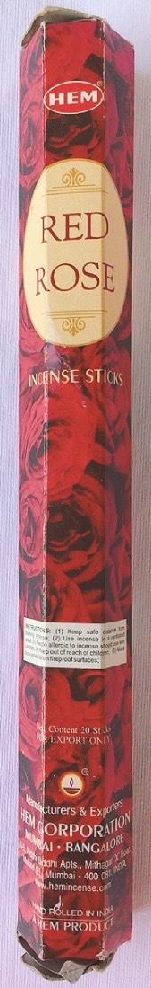 incenso hem red rose