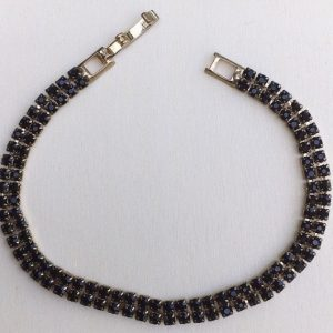 braccialetto strass neri