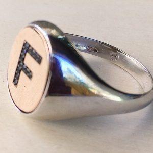 anello lettera F